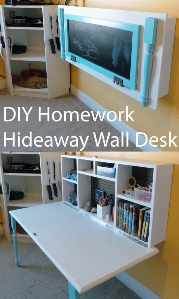 diy homework hideaway wall desk