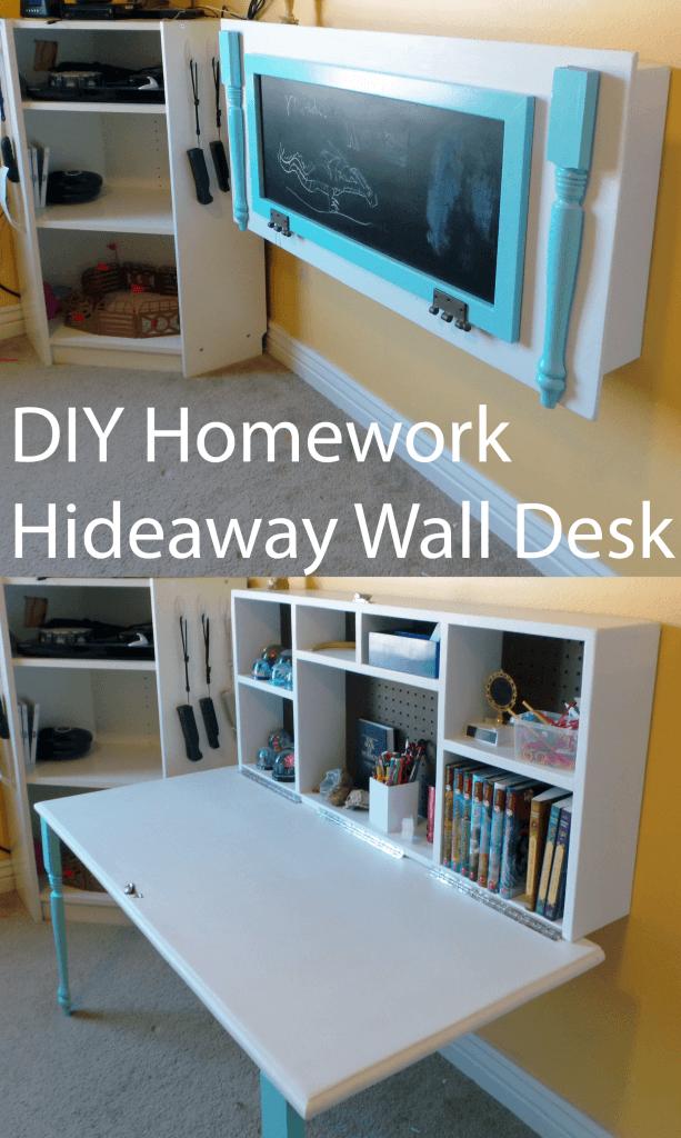 diy homework hideaway wall desk