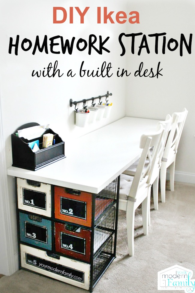 diy ikea homework station