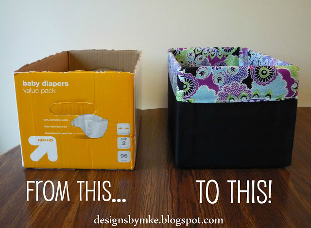 DIY storage bins baskets and boxes