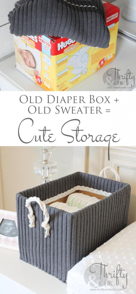 cute storage box DIY