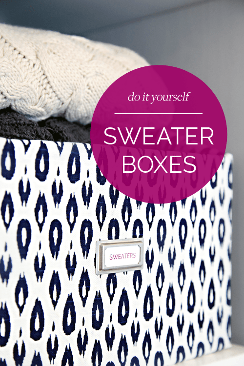 DIY sweater storage box
