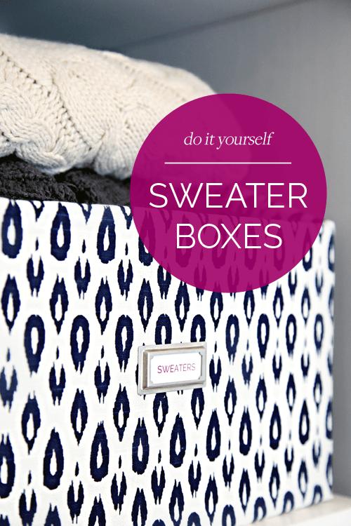 DIY sweater storage box