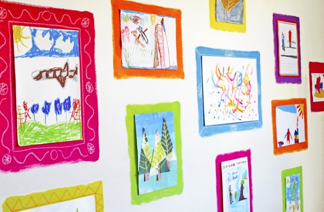 kids gallery wall art