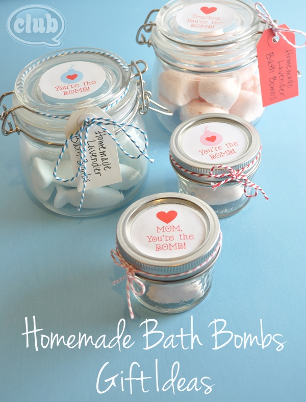 bath bombs for mom in a jar
