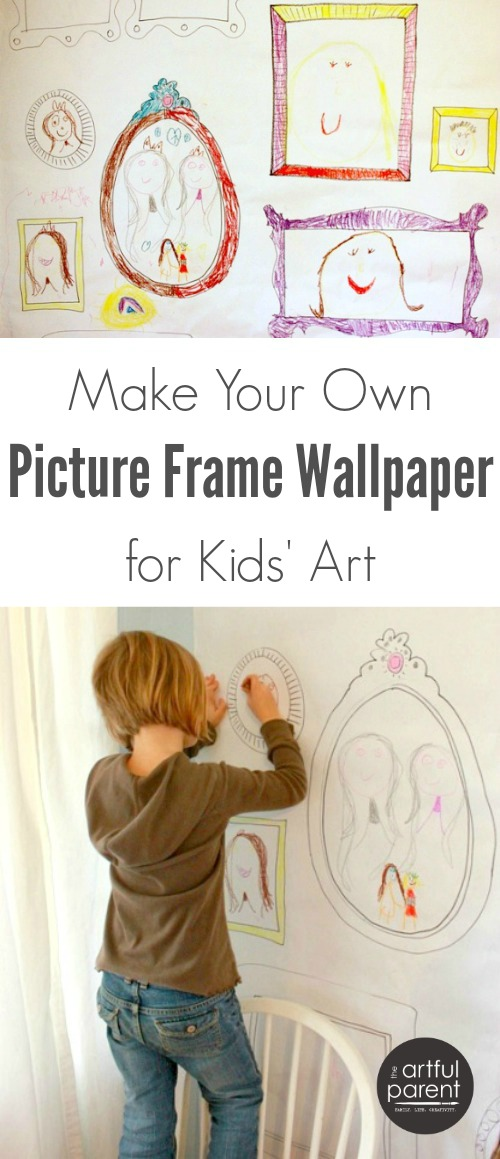 kids wall art gallery display