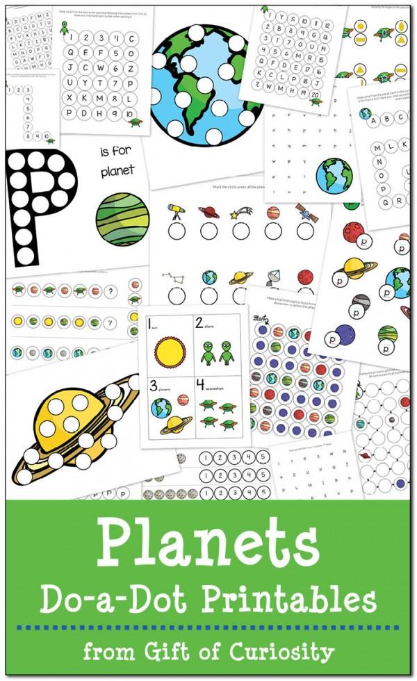 Planets Do a Dot Printables