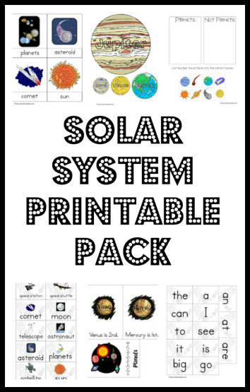 Influential image with solar system for kids printable