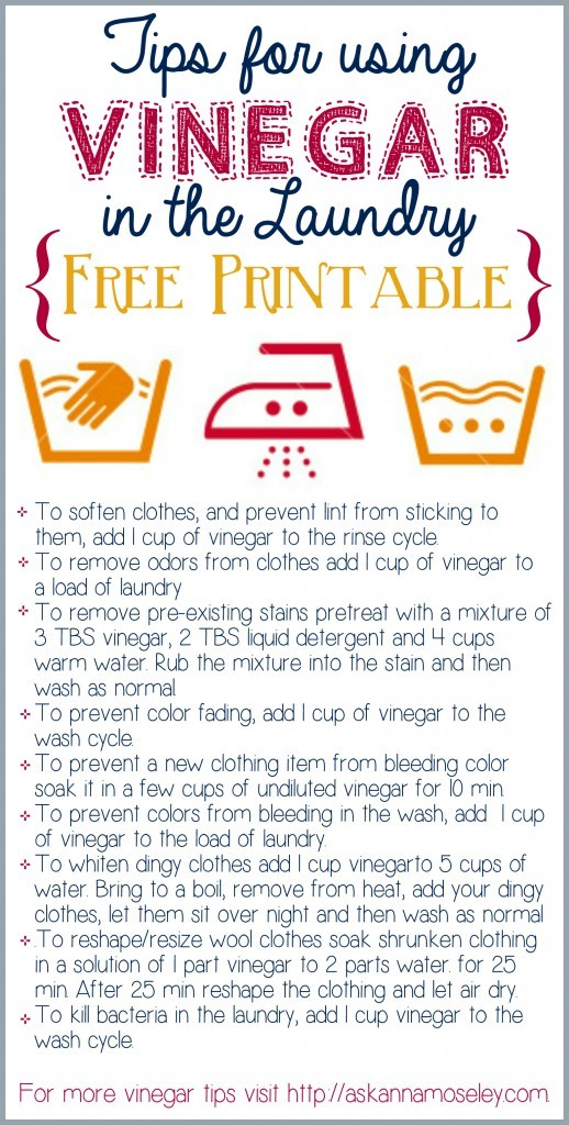 Tips for using vinegar un laundry