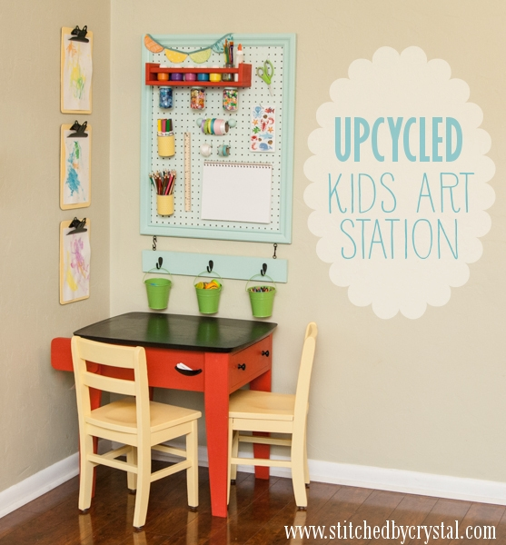 upcycled art station