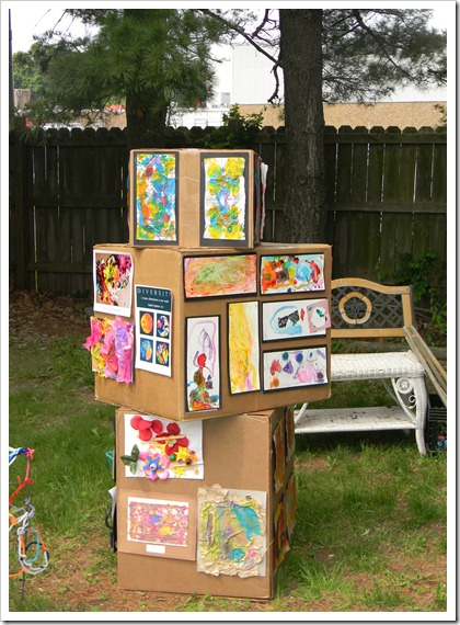 kids art display idea