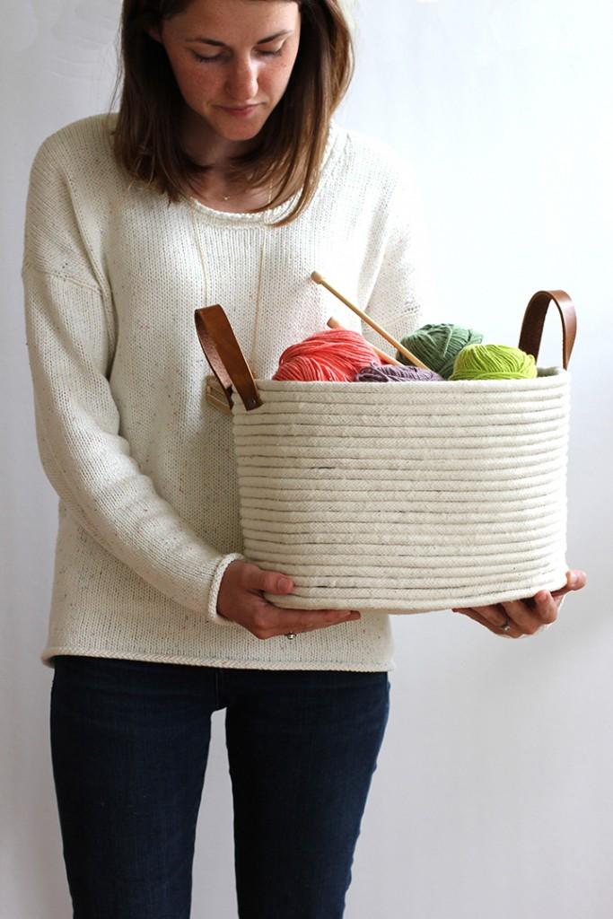 rope basket making