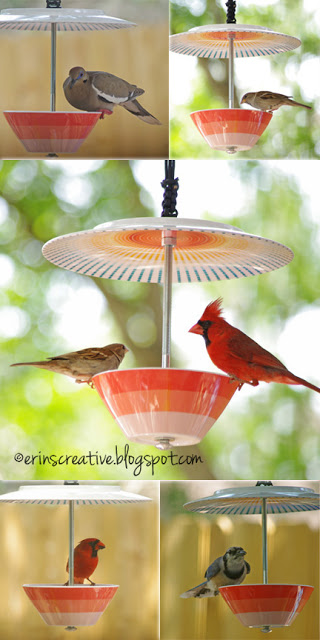 ceramic bird feeder