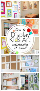 Display kids art at home