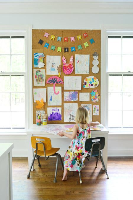 DIY kids artwork display