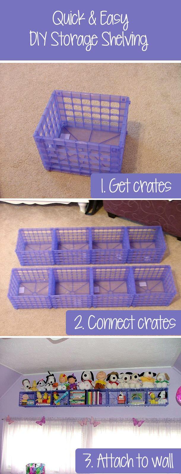 DIY dollar store storage solution
