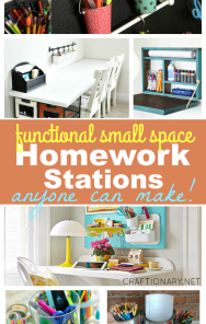 Functional small space homework stations