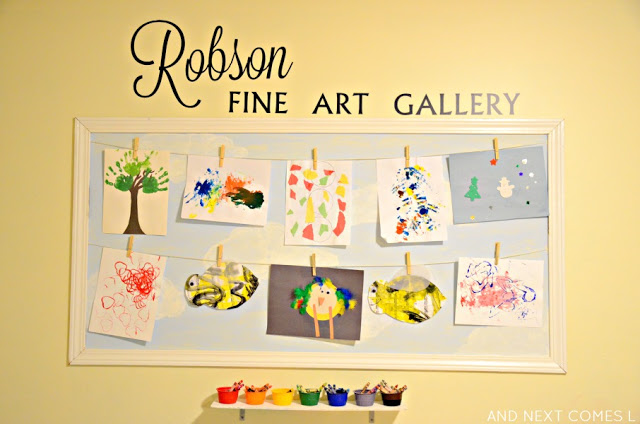 display kids art on wall