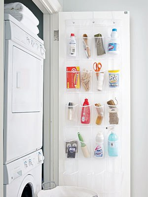 Small space hanging laundry organizer