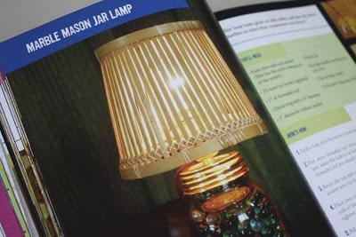 mason jar marble lamp