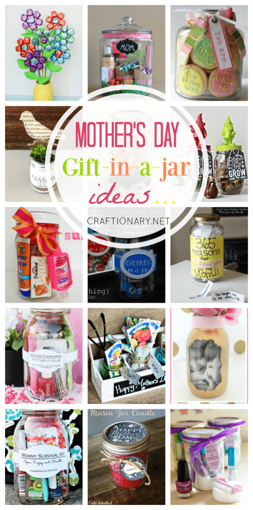 Mother's day gift in a jar ideas