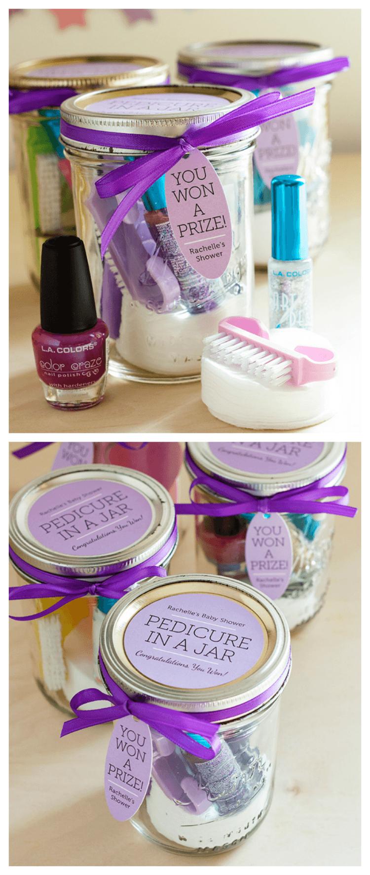 Pedicure in a jar gift idea