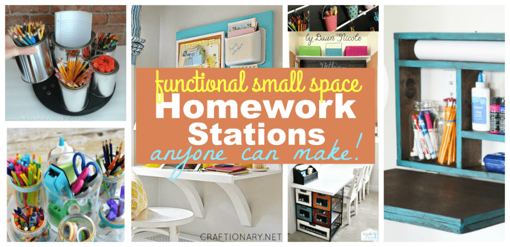 Homework stations - Functional small space study stations