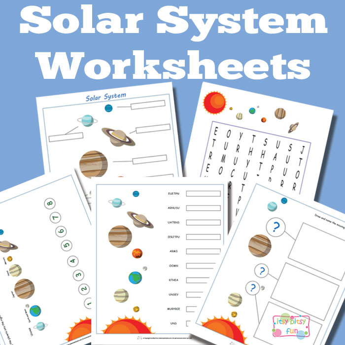 solar system worksheets - photo #15