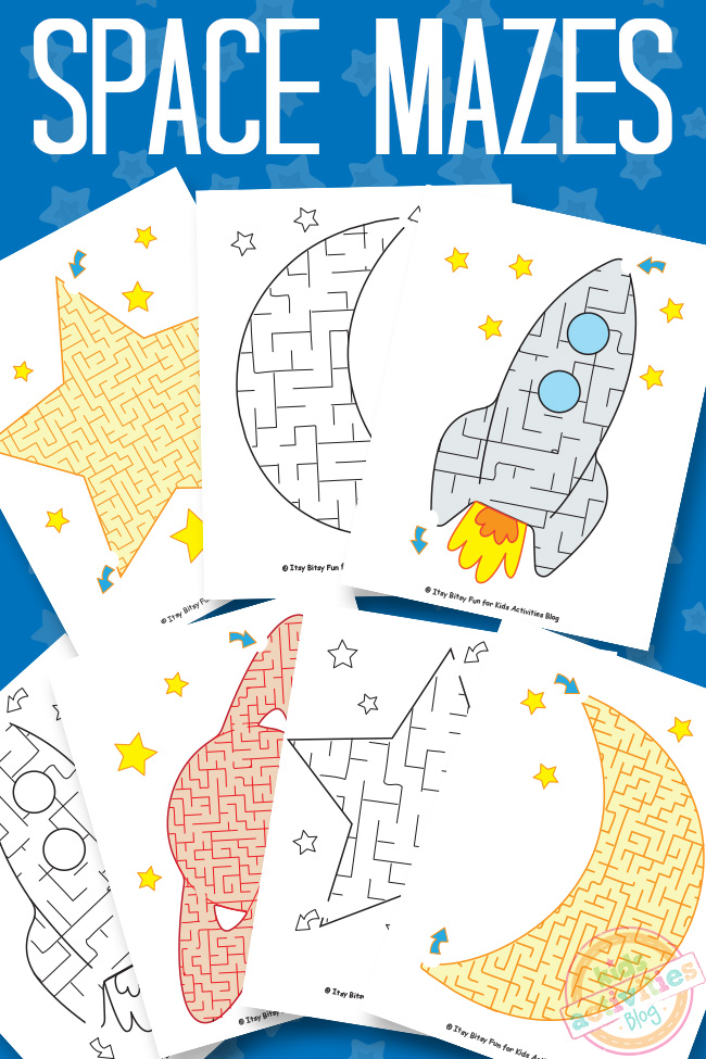 space mazes printable