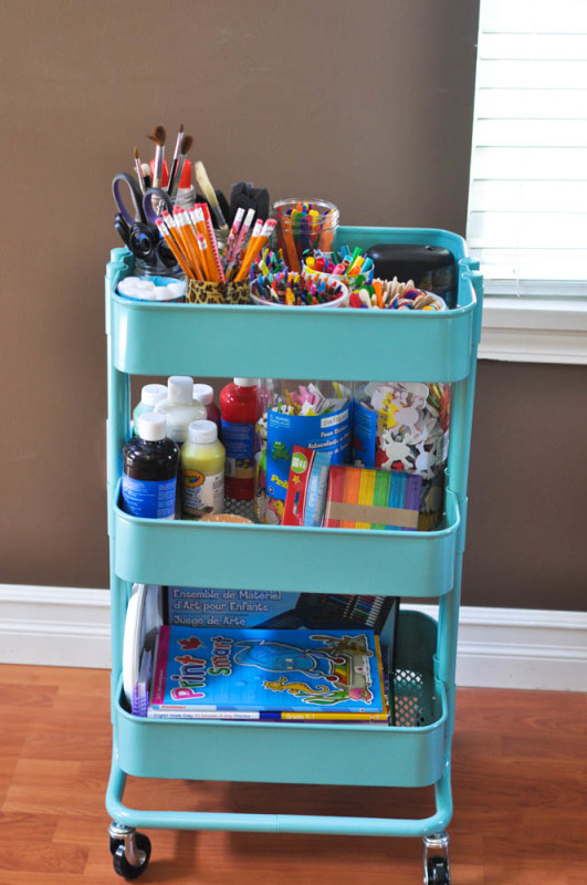 craft organizing DIY