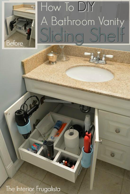 Bathroom Vanity Sliding Shelf