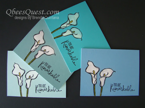 Bleached Calla Lily Cards