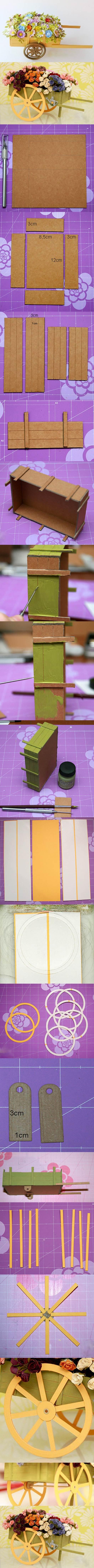 cardboard wegon making