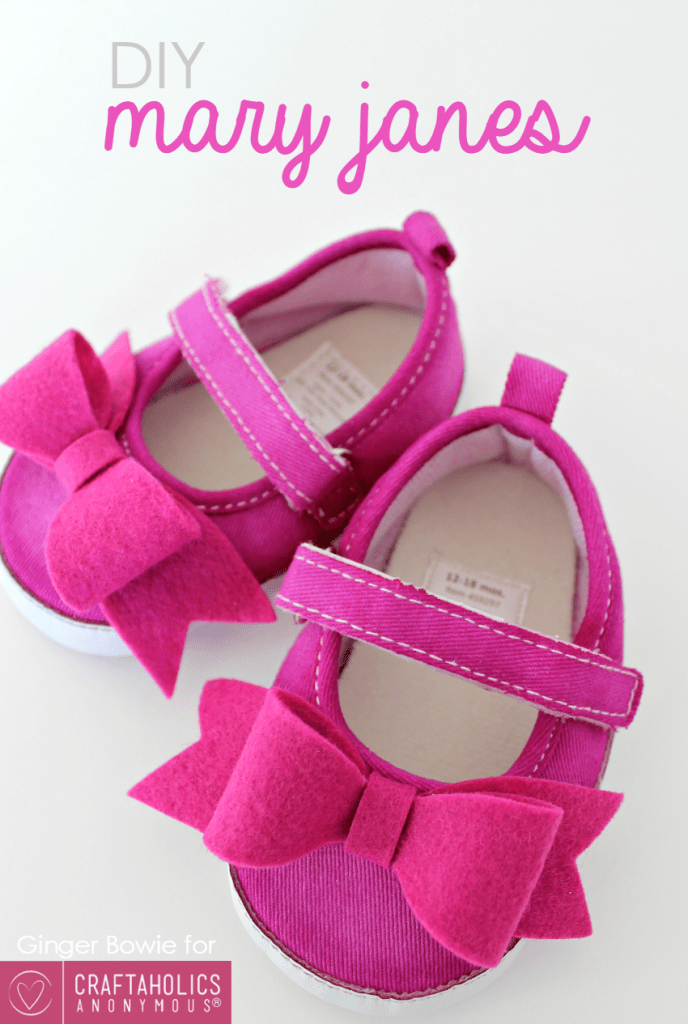 DIY mary jane baby shoes