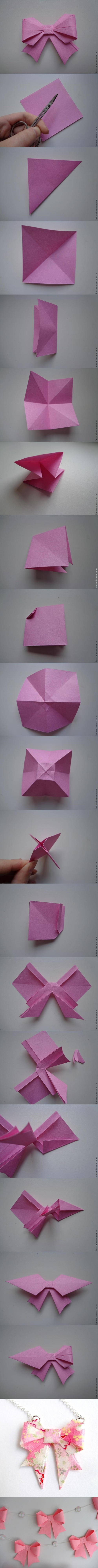 Paper Bow Making