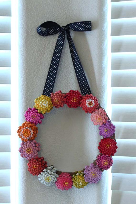 DIY Pinecone Wreath