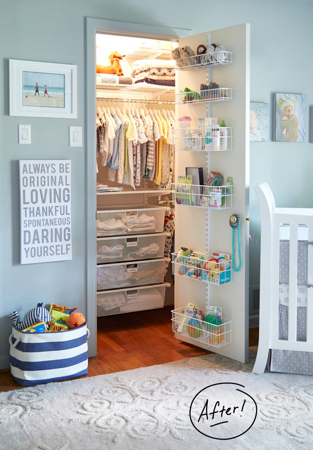 DIY closet organization for kids in a small or big bedroom