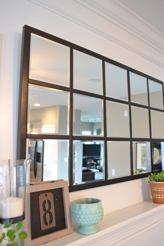 DIY mirror decor