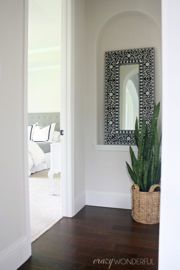DIY painted mirror project