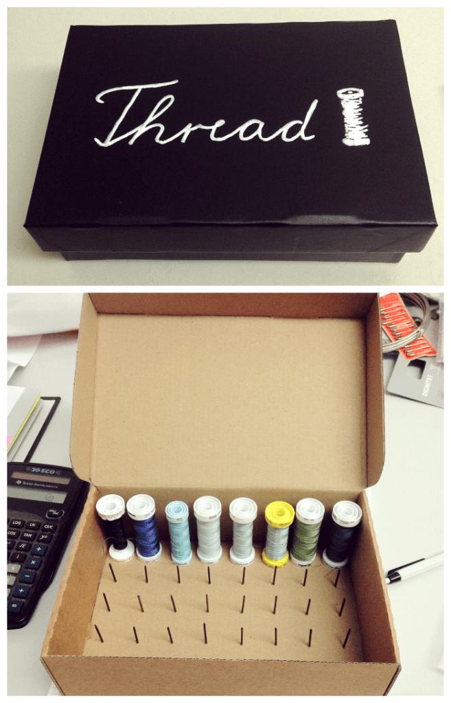 DIY thread spool organizer