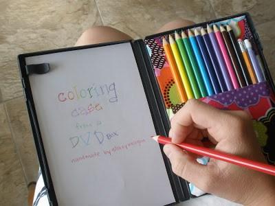 DVD case coloring kit