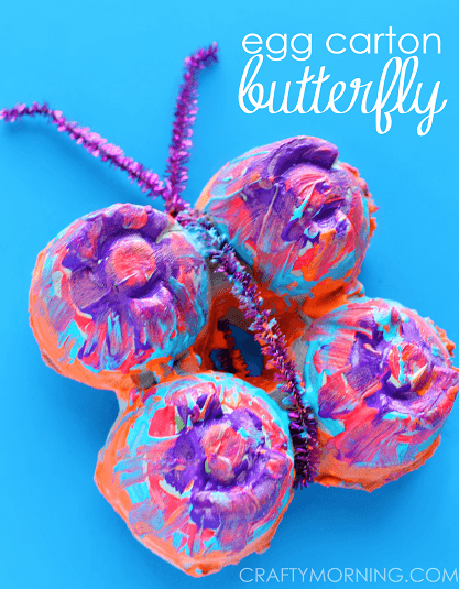 egg carton butterflly making