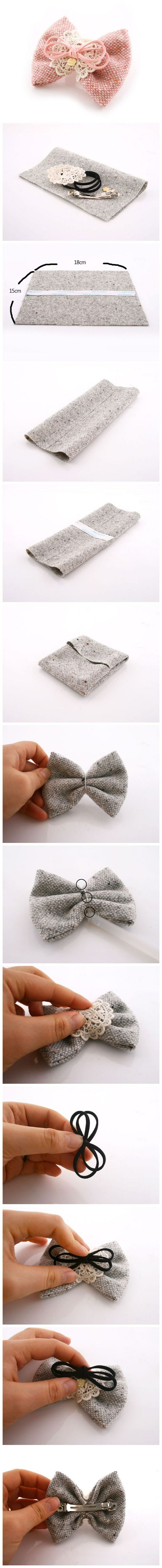 fabric bows making