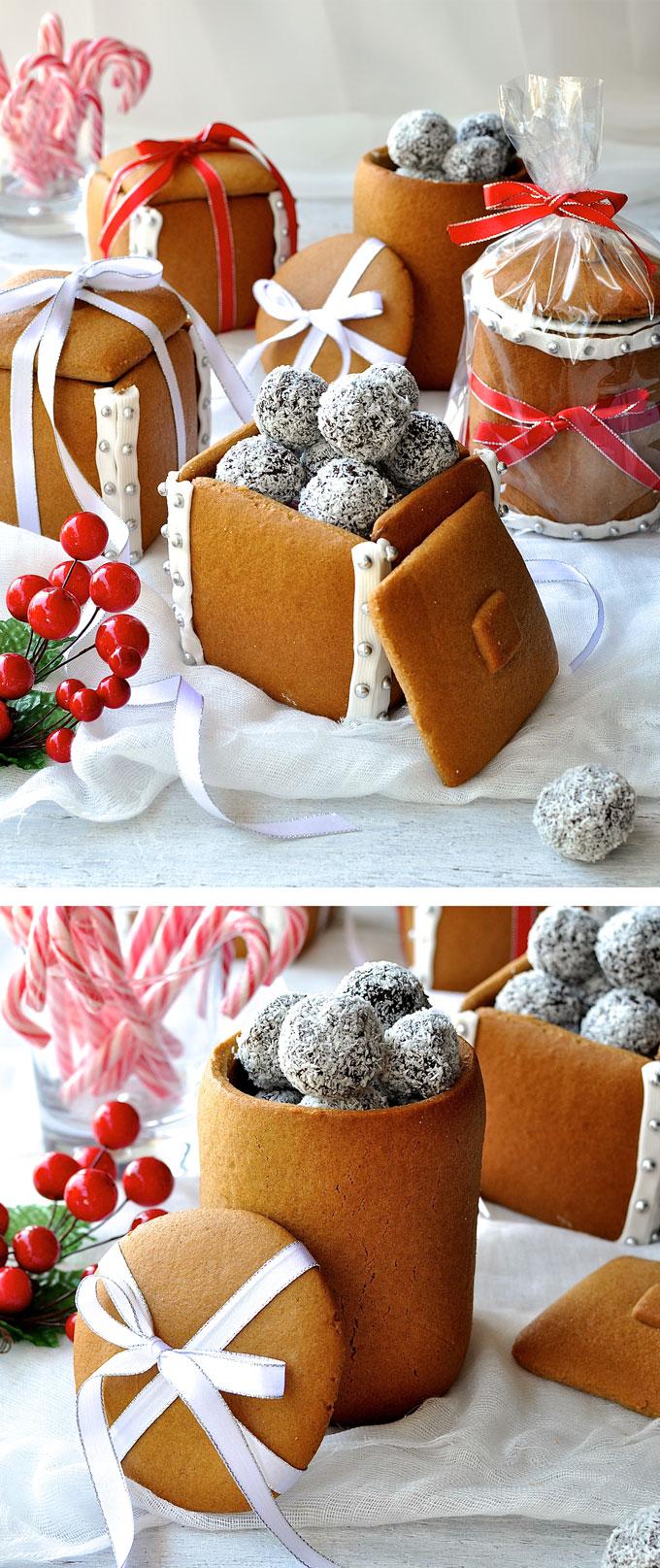 Gingerbread Boxes Mason Jars
