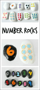 Hands on math with homemade number rocks