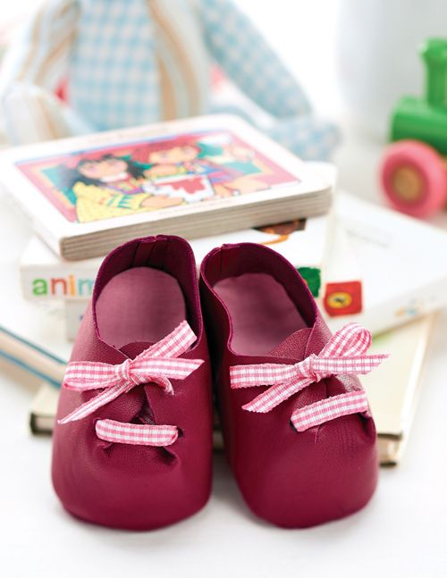 baby leather shoes tutorial
