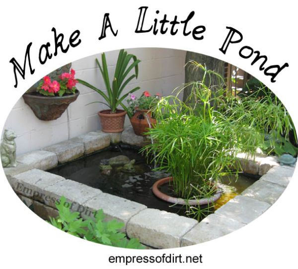 Craftionary for Diy small pond ideas