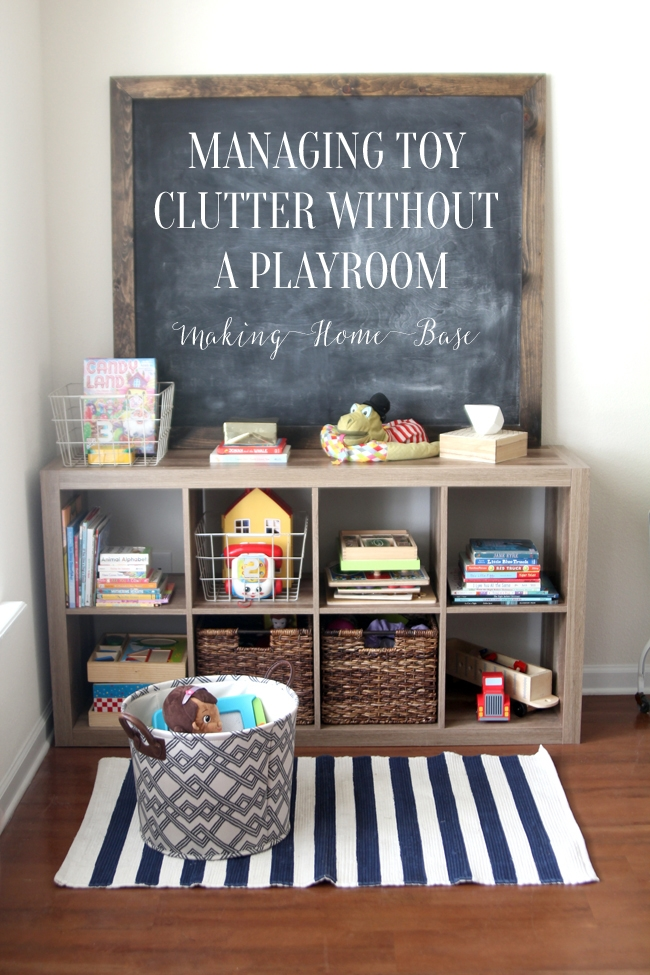 Great tips on managing toy clutter without a playroom
