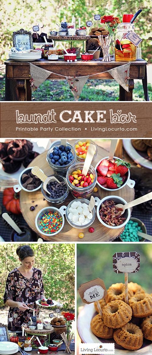 Mini Bundt Cake Bar Outdoor Party