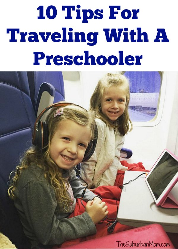 tips for traveling with a pre schooler